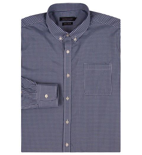 2b2f695656 Camisa Social Masculina Azul Marinho Xadrez