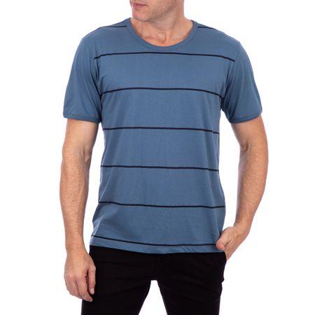 Camiseta Masculina Listrada Azul