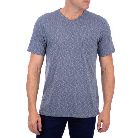 Camiseta Masculina Detalhada Azul