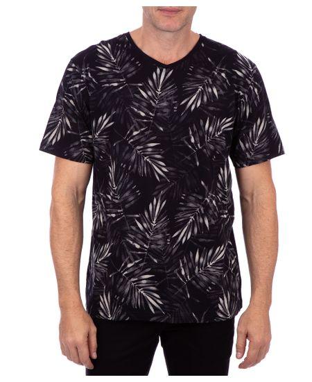 Camiseta-Manga-Curta-Estampada-Preto