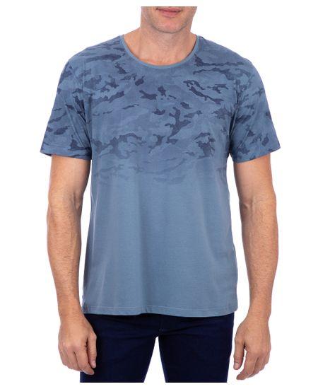 Camiseta-Manga-Curta-Estampada-Azul-Italiano