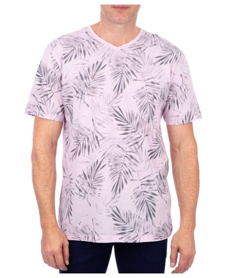 Camiseta-Manga-Curta-Estampada-Rosa-Bebe