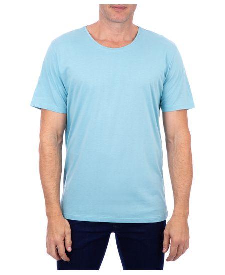 Camiseta-Basica-Meia-Malha-Com-Logo-Azul-Piscina