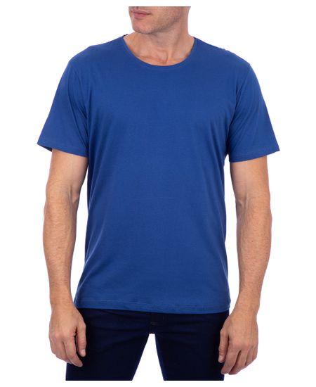 Camiseta-Basica-Meia-Malha-Com-Logo-Azul-Safira