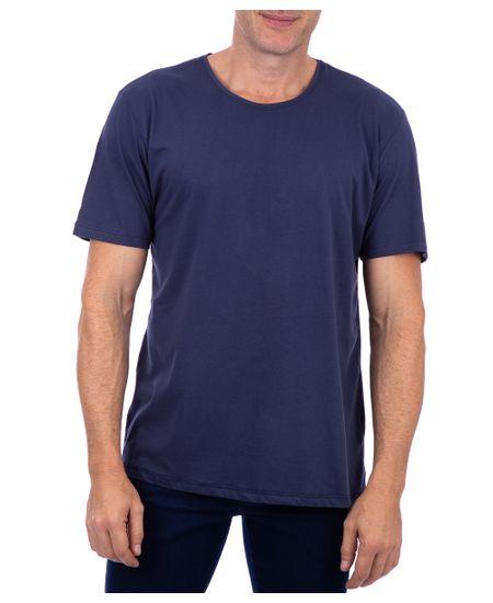 Camiseta-Basica-Meia-Malha-Com-Logo-Azul-Noite