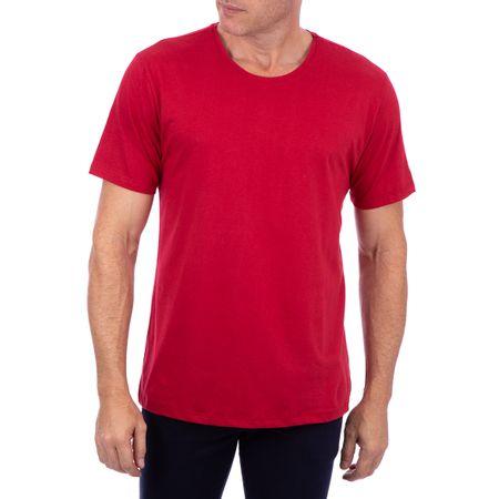 Camiseta Masculina Vinho Lisa
