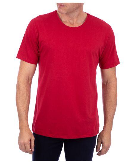 Camiseta-Basica-Meia-Malha-Com-Logo-Vinho