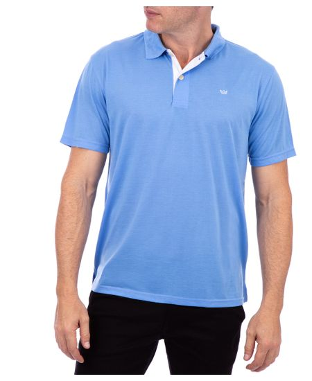 Polo-Malha-Lisa-Azul-Celeste