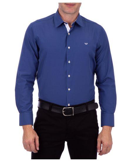 Camisa-Ml-Lisa-Mista-Azul-Marinho