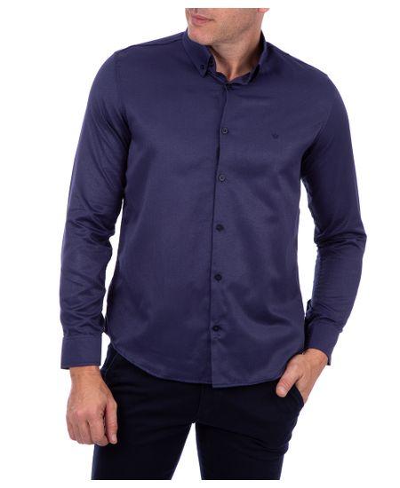 Camisa-Masculina-Tendencia-Com-Detalhe-Azul-Marinho