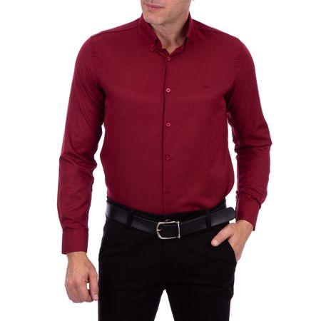 Camisa Social Masculina Vinho Lisa
