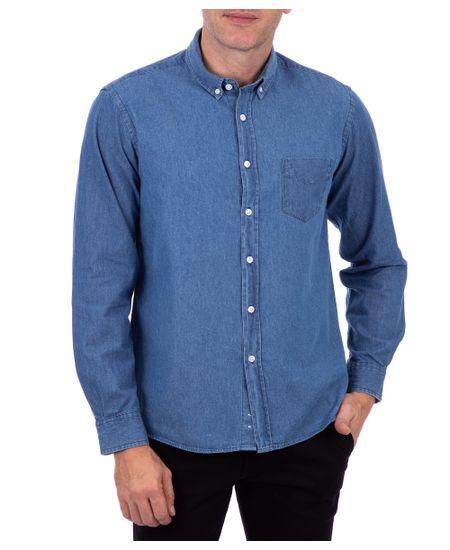 Camisa-Manga-Longa-Jeans-Slim-Azul-Claro