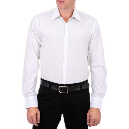 Camisa Social Masculina Branco Lisa