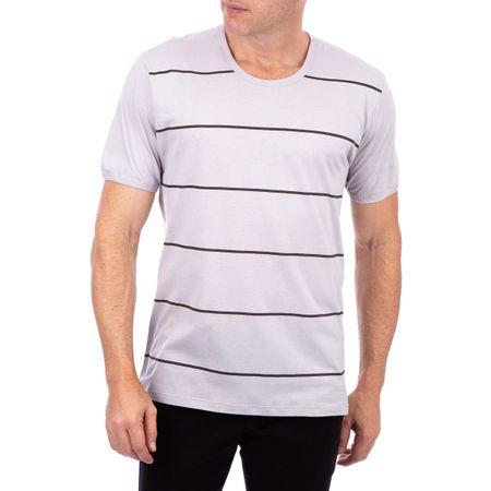 Camiseta Masculina Listrada Cinza