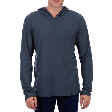 Camiseta Masculina Com Capuz Preto Lisa