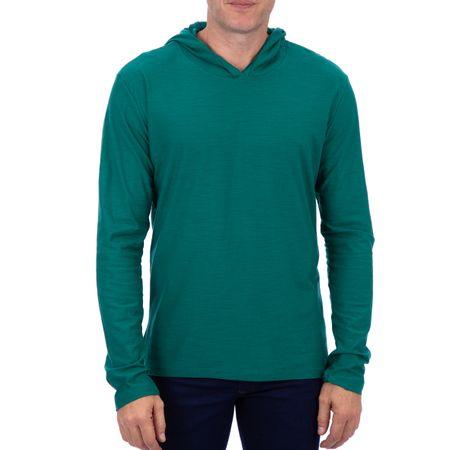 Camiseta Masculina Com Capuz Verde Lisa