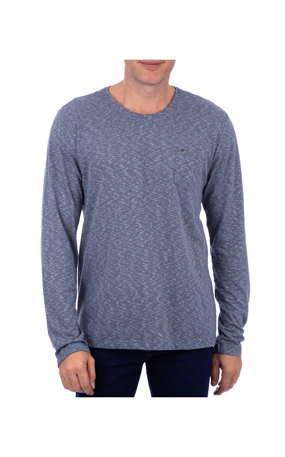 Foto 1 - Camiseta Masculina Detalhada Azul