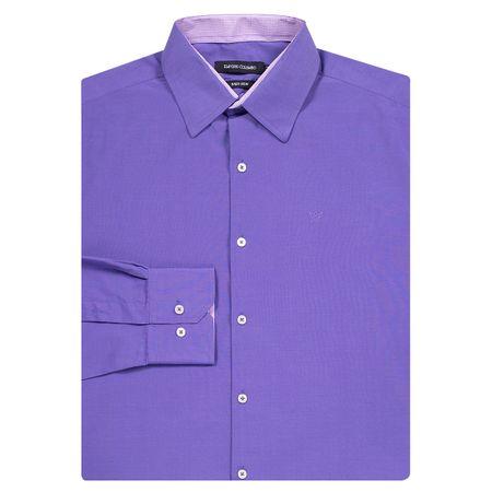 Camisa Social Masculina Roxo Detalhada