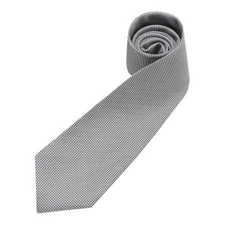 Gravata Masculina Cinza Texturizada