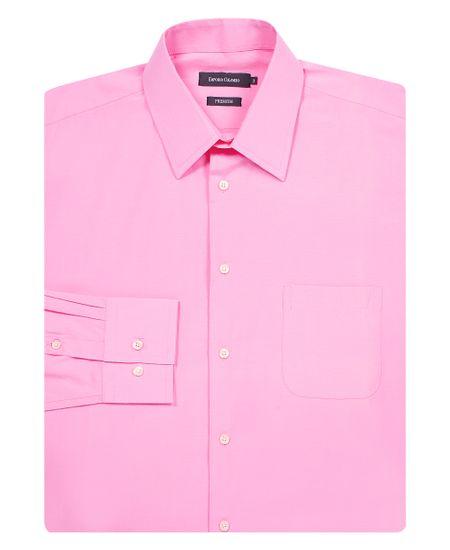 Camisa-Social-Masculina-Rosa-Lisa-