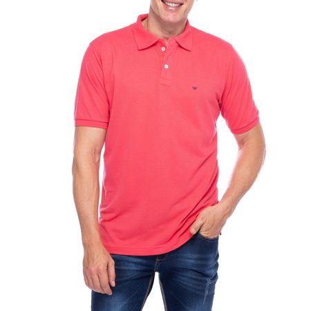 Camisa Polo Masculina Rosa Lisa