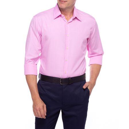 Camisa Social Masculina Rosa Detalhada