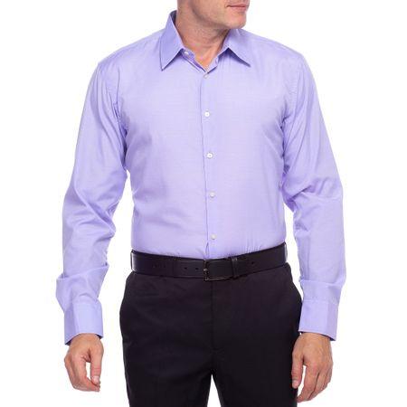Camisa Social Masculina Lilás Detalhada