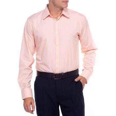 Camisa Social Masculina Laranja Detalhada