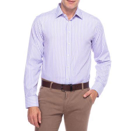 Camisa Social Masculina Lilas Listrada