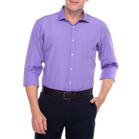 Camisa Social Masculina Lilas Lisa