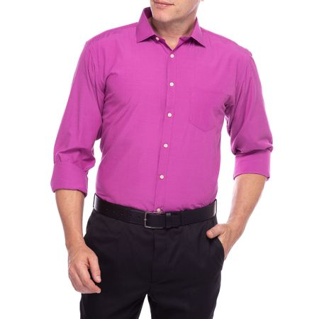 Camisa Social Masculina  Roxo Lisa
