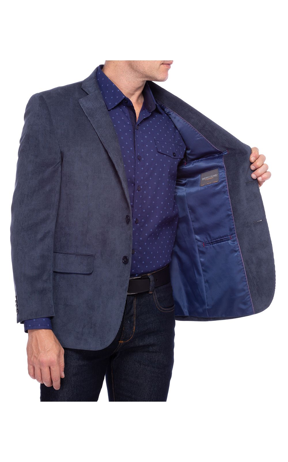 Foto 3 - Blazer Masculino Azul