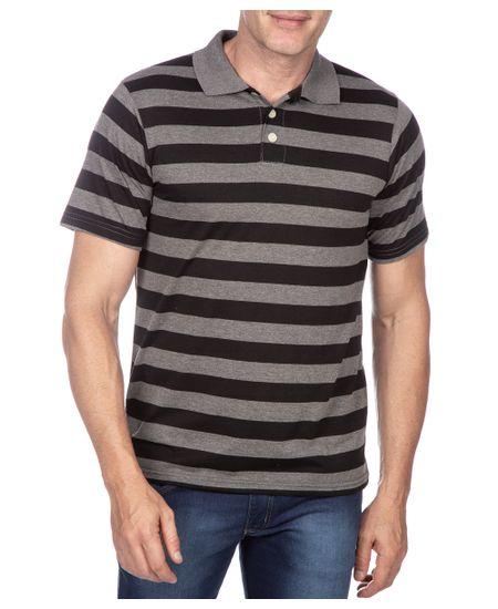 Camisa-Polo-Masculina-Preto-Listrada