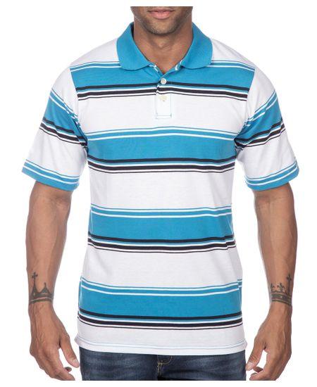 Camisa-Polo-Masculina-Azul-Listrada