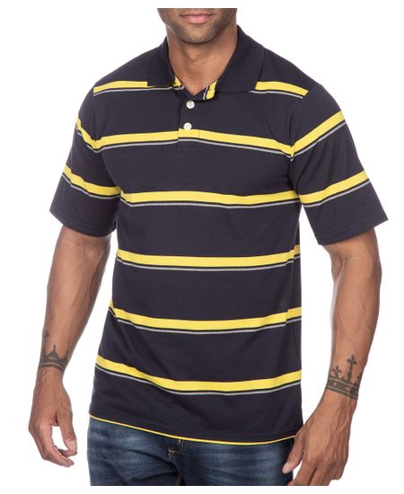 Camisa-Polo-Masculina-Azul-Marinho-Listrada