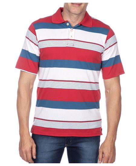 Camisa-Polo-Masculina-Vermelho-Listrada
