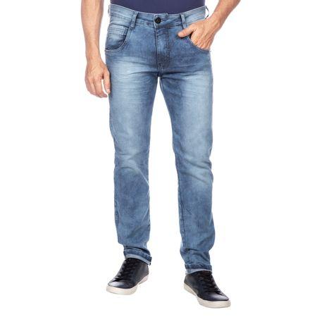 Calça Jeans Masculina Azul com Detalhe