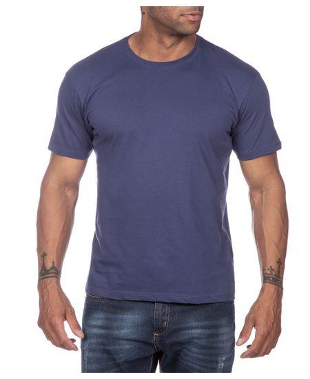 Camiseta-Masculina-Azul-Marinho-Lisa