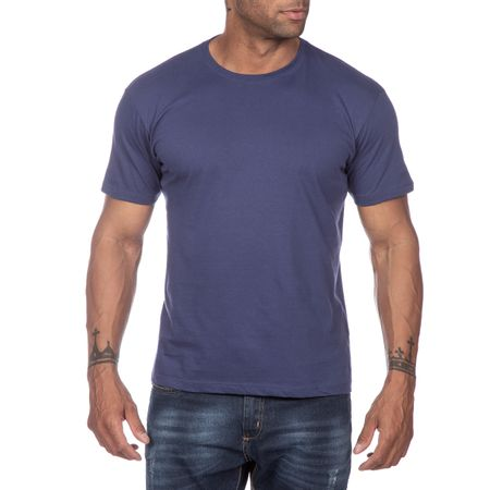 Camiseta Masculina Azul Marinho Lisa