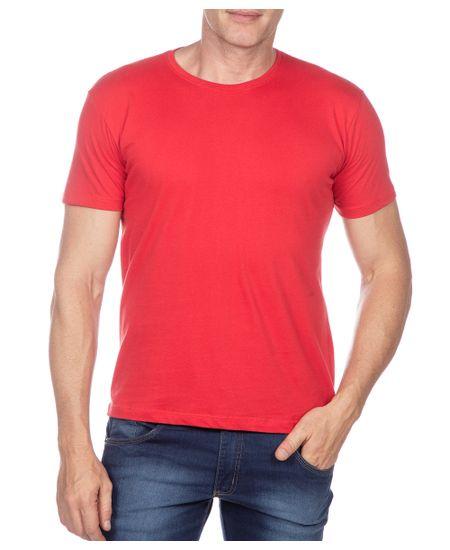 Camiseta-Masculina-Vermelho-Lisa