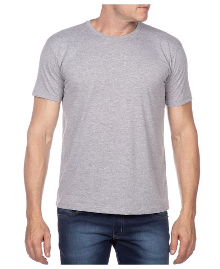 Camiseta-Masculina-Cinza-Lisa