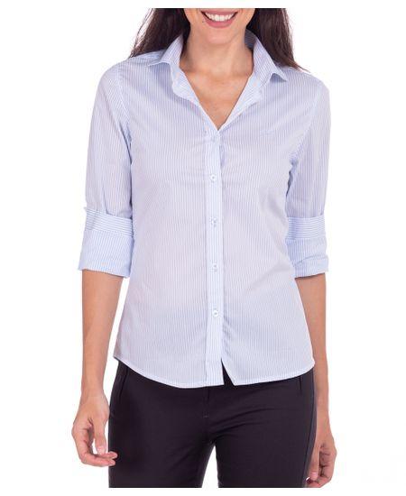 Camisa-Feminina-Azul-Listrada