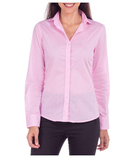Camisa-Feminina-Rosa-Listrada