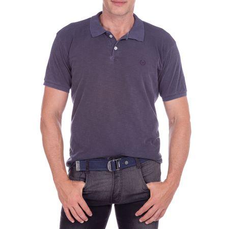 Camisa Polo Masculina Flamê Azul Marinho