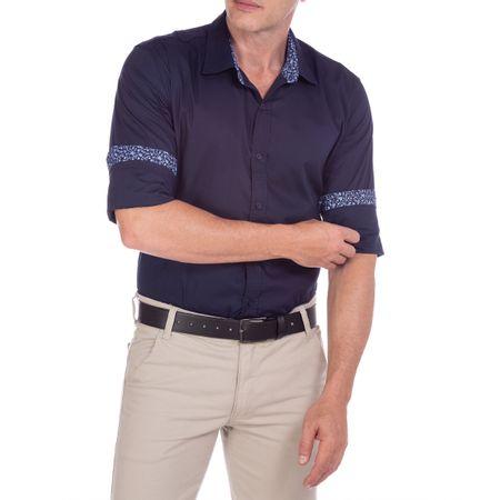 Camisa Social Masculina Azul