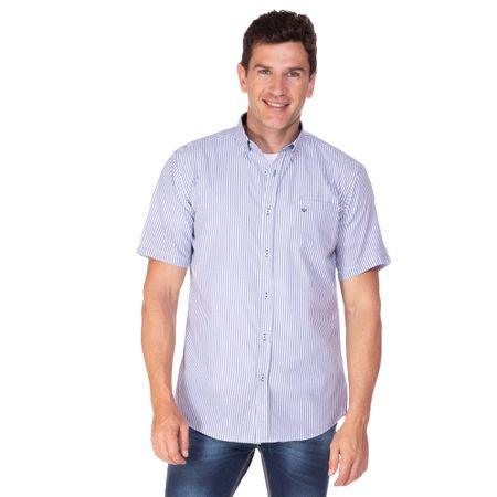 Camisa Social Masculina Fio Tinto Com Detalhe