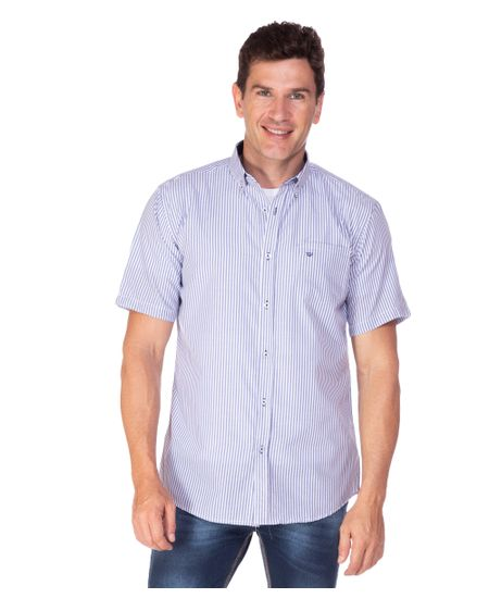 Camisa-Social-Masculina-Fio-Tinto-com-Detalhe