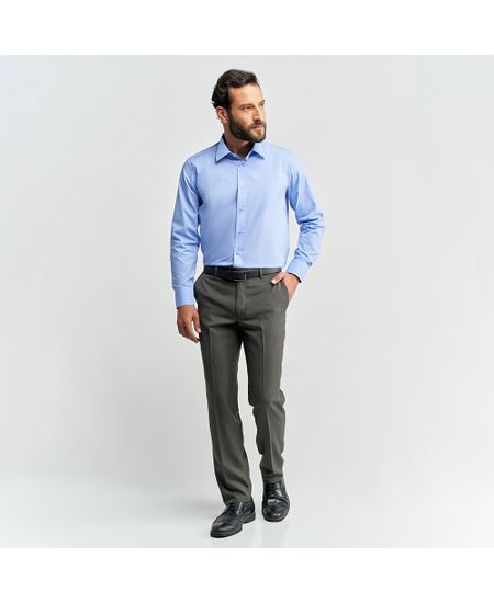 Camisa-Social-Masculina-Azul-Lisa---2