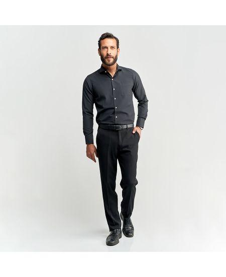 Camisa-Social-Masculina-Preto-Lisa---3