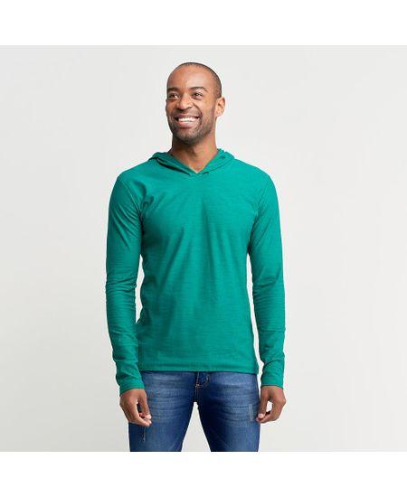 Camiseta-Masculina-Com-Capuz-Verde-Lisa---1